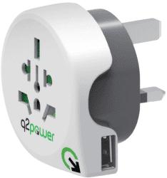 Q2 Power World - UK + USB, cest. adaptér