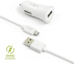 Fixed USB 2,4 A biela micro USB kábel