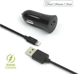 Fixed USB 2,4 A čierna Lightning kábel