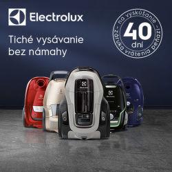 40 dní záruka vrátenia peňazí na vysávače Electrolux