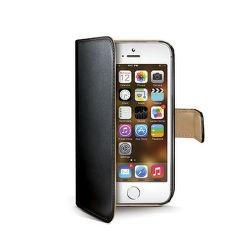 CELLY Púzdro typu kniha CELLY Wally pre Apple iPhone 5/5S, PU kože, čierne