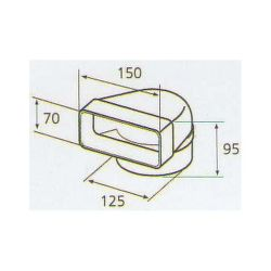 ELICA 1052 Q, plastove rozvody 125mm