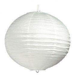ECOPLANET Guľa biela 40cm-papier. luster
