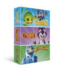 DVD F - Kolekce animáků: Velká oříšková loupež, Sammyho dobrodružství 2, Zambezia