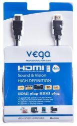 Vega AA-1064 HDMI 1.4, Ethernet, 4m (čierny)