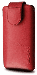 FIXED Puzdro Sarif so zatváraním, PU kože, veľkosť 5XL, červené