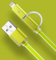 Remax AA-1146 Aurora 2v1 Lightning/microUSB kábel, zelená