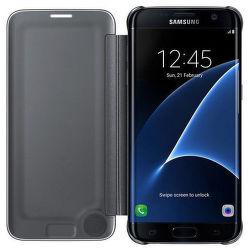 Samsung EF-ZG935CB Flip Clear View Galaxy S7e (čierny)