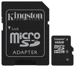 KINGSTON 16GB MIKRO SDHC Card Class 4