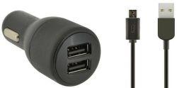 4-OK 2 USB Port 12 / 24V - 4.8 A + Dátový kábel Micro USB - autonabíjačka