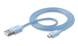 CellularLine Style&Color dátový kábel micro USB, modrá