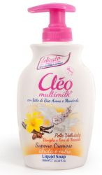 Cleo Multimilk Vanilka/Lieskovec tekuté mydlo (300ml)