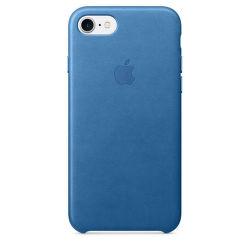 Apple kožené púzdro na iPhone 7 (svetlo modrá)