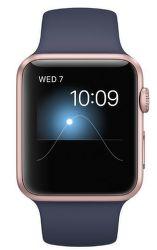 Apple Watch Series 2 42mm (ružovo zlatý hliník / polnočná modrá športové remienok)