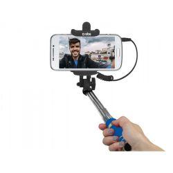 SBS mini selfie tyč s 3,5 mm konektorom 50 cm, modrá