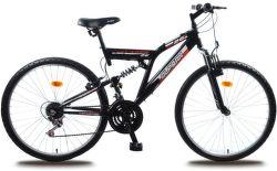 """OLPRAN Laser 26"""", Bicykel, čierna"""