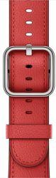 Apple Watch 42mm červený klasický remienok