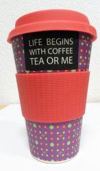 Eco Bamboo Cup Slogan termo hrnček (400ml)