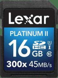 Lexar 16GB SDHC 300x Platinum II Class 10 UHS-I