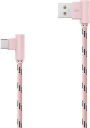 MOBILNET USB Type C kábel 2m, ružový