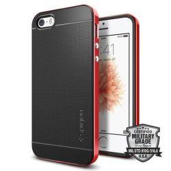 SPIGEN iPhone 5/5S/SE Case Neo Hybrid, červená