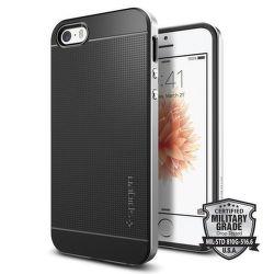 SPIGEN iPhone 5/5S/SE Case Neo Hybrid, strieborná