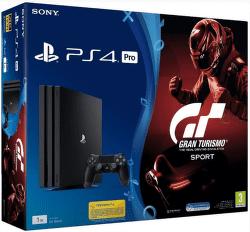 PlayStation 4 Pro, 1TB, čierna + Gran Turismo Sport