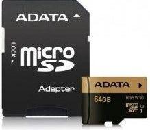 ADATA microSDXC XPG 64GB UHS-I U3 + adaptér