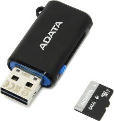 ADATA Premier microSDXC 64GB UHS-I Class 10 + OTG USB čtečka