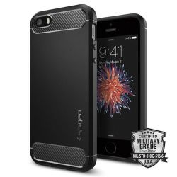 SPIGEN iPhone 5/5S/SE Case Rugged Armor, čierna