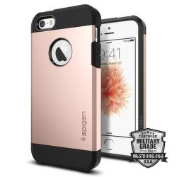 SPIGEN iPhone 5/5S/SE Case Tough Armor, ružovo-zlatá