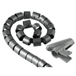 HAMA 20601 Trubica pre vedenie káblov 1,5 m 30 mm strieborná