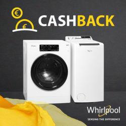 Cashback až do 100 € na práčky Whirlpool