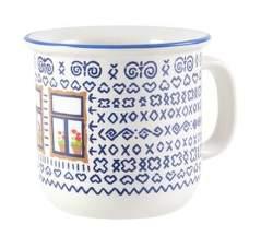 Štrbské Presso Čičmany s oknom/malý keramický hrnček (0,6 dcl)