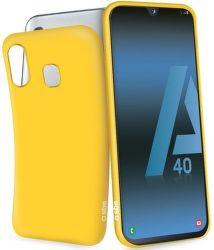 SBS gumené puzdro pre Samsung Galaxy A40, žltá