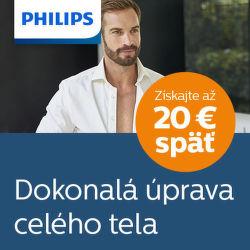 Cashback až do 20 € na zastrihávače Philips