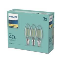 PHILIPS 40W B35 E14 WW 3ks