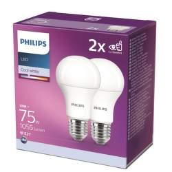 PHILIPS 11W(75W) A60 E27 CW 2ks