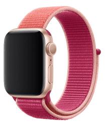Apple Watch 44 mm športový prevliekací remienok, tmavo fuchsiový
