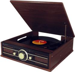 Soundmaster PL550 hnedé