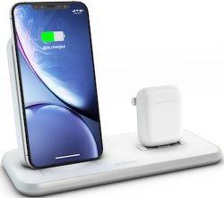 Zens Stand + Dock Aluminium bezdrôtová nabíjačka 10W Qi, biela
