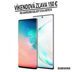 Víkendová zľava 150 € na smartfóny Samsung