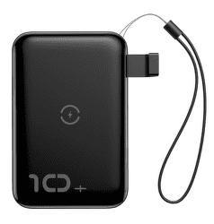 Baseus Mini S powerbanka s bezdrôtovým nabíjaním 10000 mAh, čierna