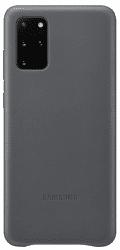 Samsung Leather Cover pre Samsung Galaxy S20+, sivá