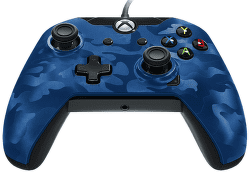 PDP Wired Controller pre Xbox One CAMO modrý