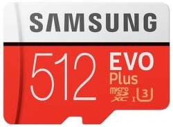 Samsung Micro SDXC 512 GB EVO Plus + SD adaptér
