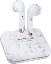 Happy Plugs Air 1 Plus mramorovo biele