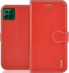 Fonex Identity knižkové puzdro pre Huawei P40 Lite, červená