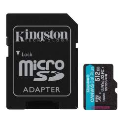 Kingston Canvas Go Plus 512 GB micro SDXC U3 V30 + SD Adaptér