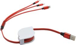 Mobilnet dátový kábel 3v1 červený